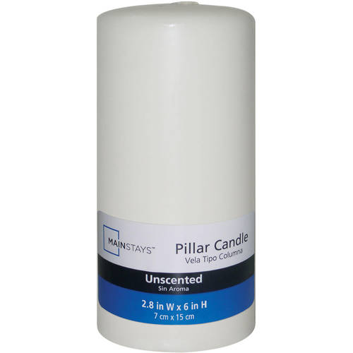 "Mainstays 6"" Unscented Pillar Candle"
