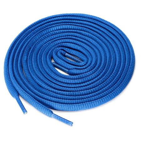 "2 Pairs Unisex Oval Half Round Shoelaces Sneakers Dark Blue-5 150 cm/59"" - image 1 of 4"