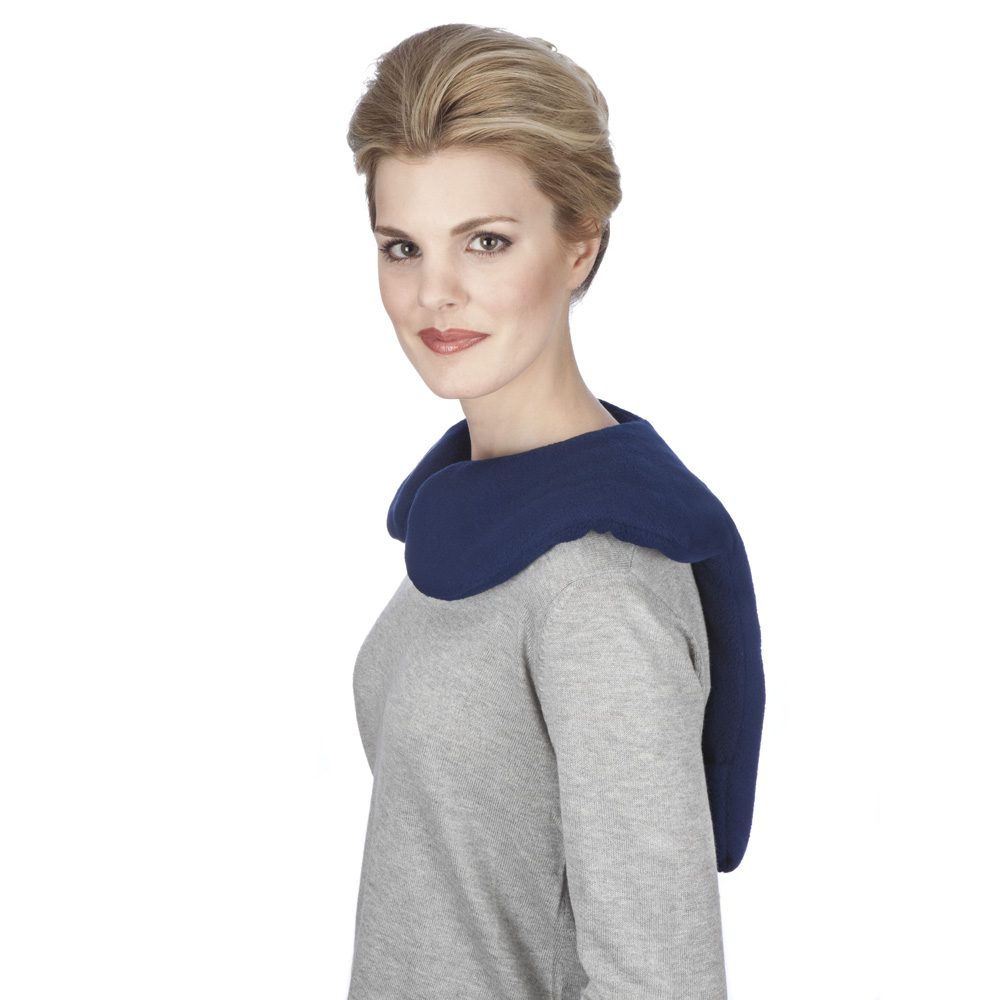 Sunny Bay Microwavable Shoulder and Upper Back Heat Wrap, Blue, Large