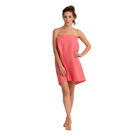 Women Waffle Spa/Bath Wrap Soft Light Comfortable Adjustable Closure, Dries