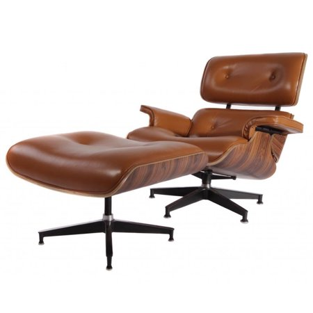Tremendous Mcm Eames Style Lounge Chair With Ottoman Brown Walmart Com Squirreltailoven Fun Painted Chair Ideas Images Squirreltailovenorg