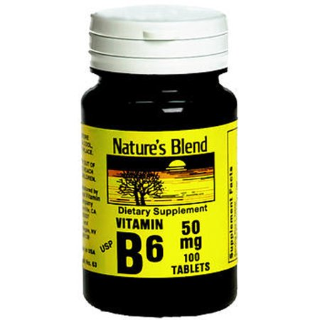 Mélange Nature Vitamine B6 50 mg comprimés - 100 ct