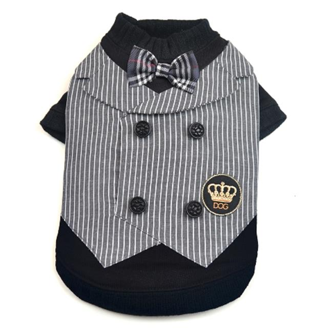 Dogs of Glamour DG00031BK-XS Dapper Vest Black, Extra Small - image 1 of 1