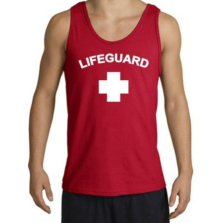 df900193cc8af1 Buy Cool Shirts - Men s Lifeguard Tank Top - Red - Walmart.com