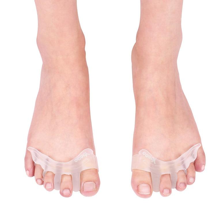 1pc rubber gel toe straightener separator bunion corrector