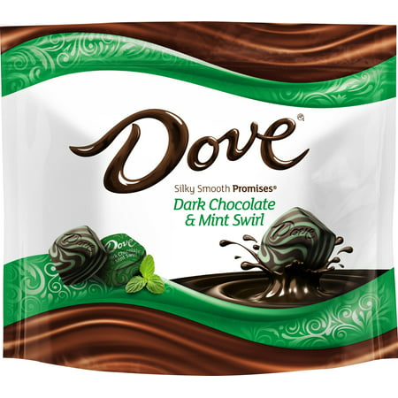 (4 Pack) Dove Promises, Dark Chocolate Mint Swirl Candy, 7.61 Oz (Dark Chocolate Dove)