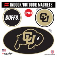 Colorado Buffaloes Indoor & Outdoor 3-Pack Magnet Set