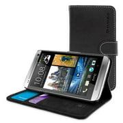 Snugg B00PY02JSM HTC One E8 Flip Case, Black Leather