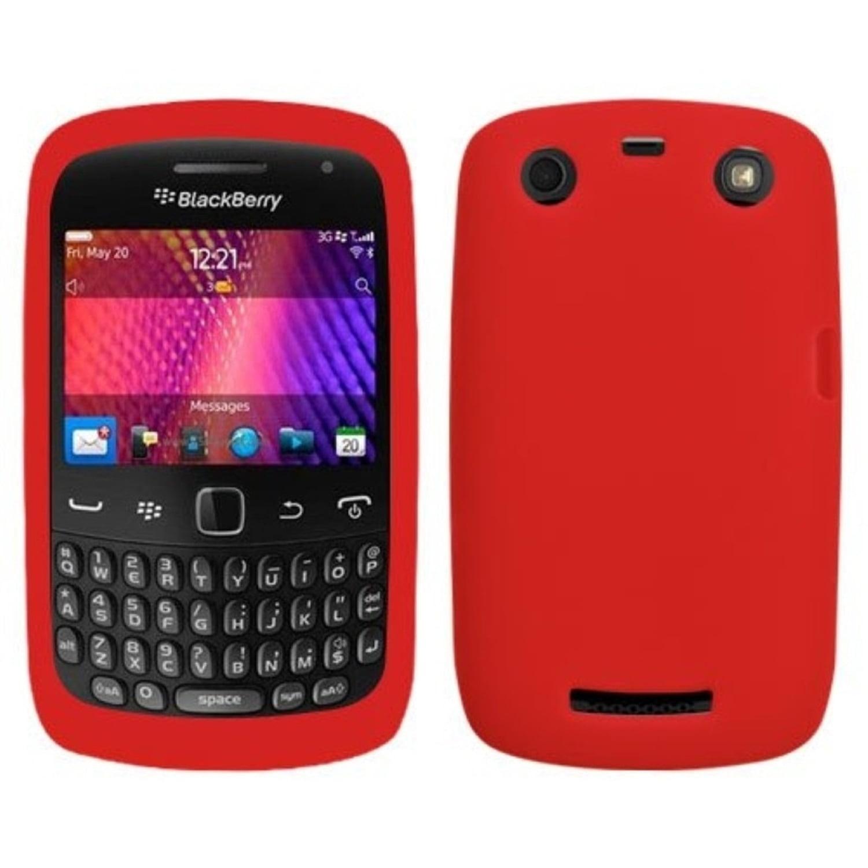 Insten Solid Skin Case Red For RIM BLACKBERRY 9360 Curve 9350 Curve 9370 Curve