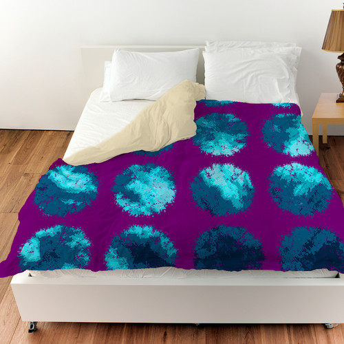 Manual Woodworkers & Weavers Fuzzy Dots Duvet Cover