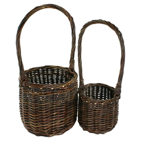 Areo Home Areo Home Woven Branch Tall Handled Baskets - Set of 2