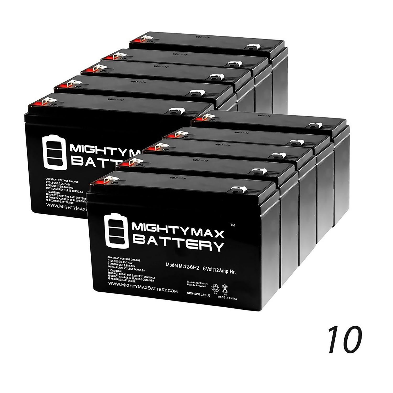 6V 12AH UPS Battery for Liebert UPSSTATION D Mighty Max Battery ML12-6 .250TT 3 Pack Brand Product