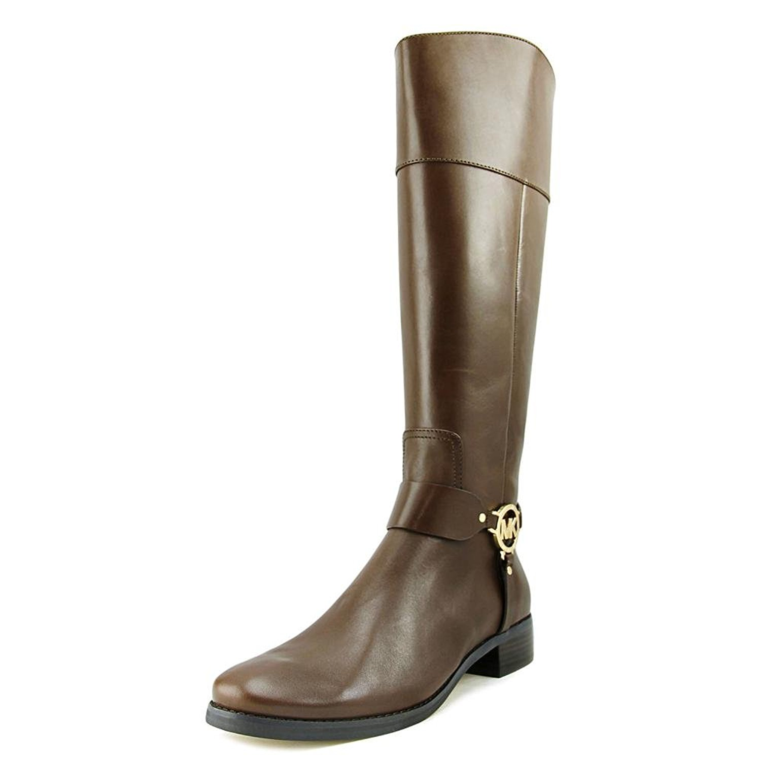 Michael Kors Womens Fulton Harness Leather Closed Toe Knee High Fashion Boots