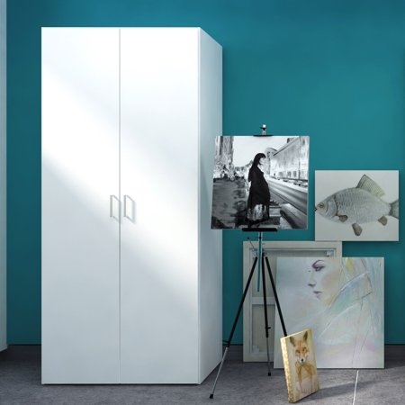 Space Wardrobe with 2 Doors; White ()