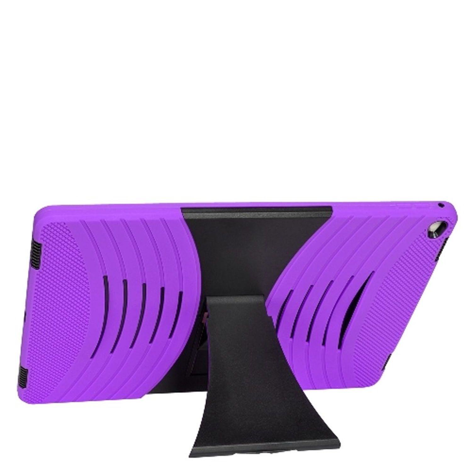 "iPad 12.9 Pro case, by Insten Dual Layer [Shock Absorbing] Hybrid Stand Rubber Silicone/Plastic Case Cover For Apple iPad Pro 12.9"", Purple/Black"