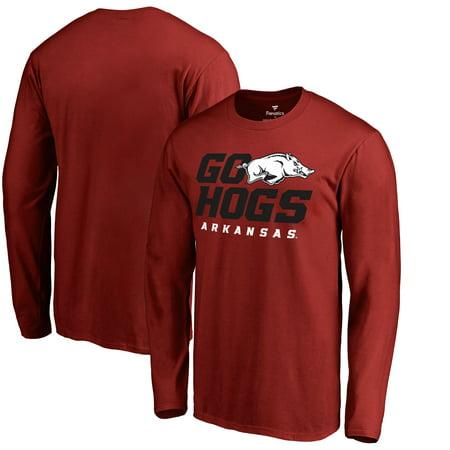 - Arkansas Razorbacks Fanatics Branded Hometown Collection Go Hogs Long Sleeve T-Shirt - Cardinal
