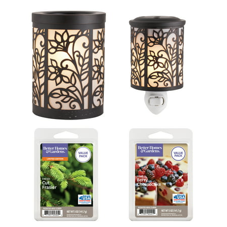Better Homes and Gardens 4 Piece Wax Warmer Gift Set - Vines, $29 (Damask Warmer)