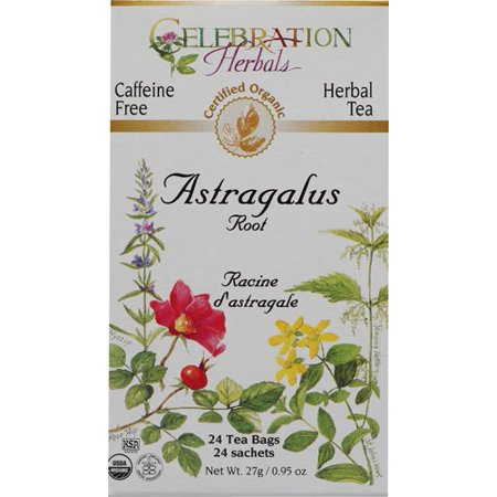 Celebration Herbals Organic Herbal Tea Caffeine Free Astragalus Root 24 Herbal Tea - Root Herbal Tea