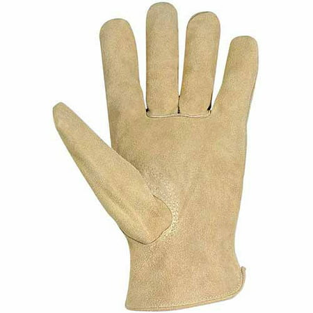 Custom Leathercraft Large Split Cowhide Driver Men's Work Gloves