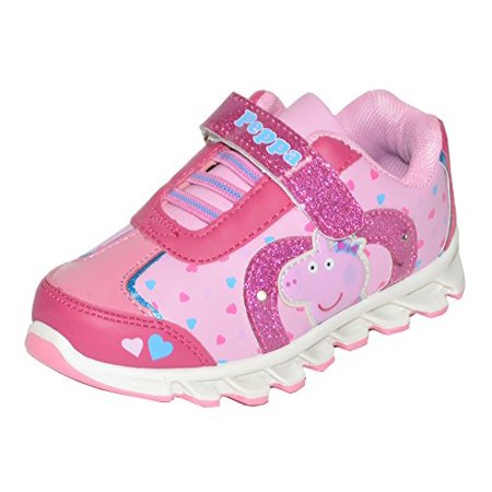 Peppa Pig Heart Light-Up Sneakers (5, Pink) for $<!---->