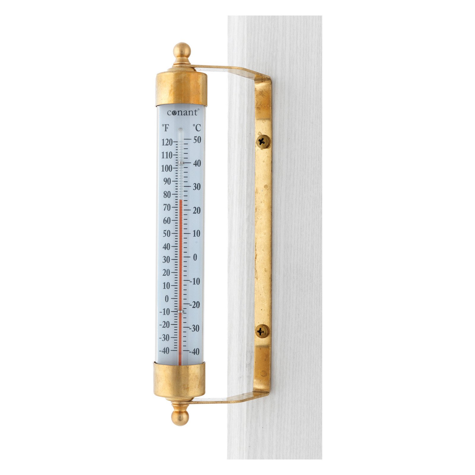 Conant T1LFB Brass Vermont Outdoor Thermometer by Generic