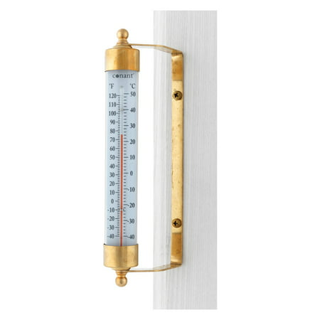 Conant Custom Brass Vermont Dial (Conant T1LFB Brass Vermont Outdoor Thermometer )
