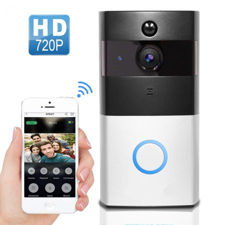 2.4G WiFi Wireless Video Camera Door Bell Phone Doorbell Intercom APP Remote Control PIR Motion Detection IR Night Vision for IOS and (Best Ring Video Doorbells)