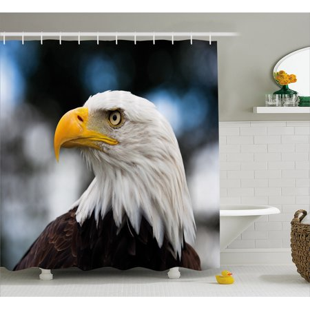 Eagle Shower Curtain Photo Of The Head Freedom Symbol In America With Blurred Background