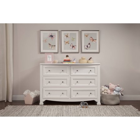 Davinci Kalani 6 Drawer Double Wide Dresser  White