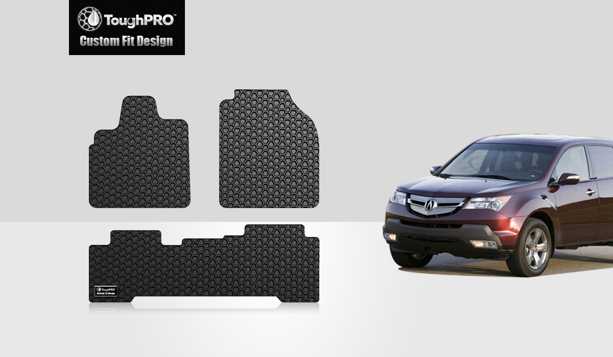 Acura MDX CUSTOM CLEAR VINYL- Heavy Duty Floor Mat Protectors 5-Piece