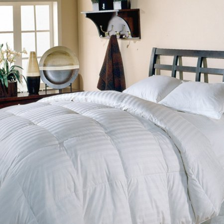 Blue Ridge Home Fashions Supreme 350 Thread Count Cotton Damask White Down - Down On The Count