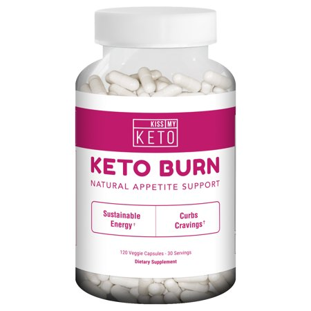 Kiss My Keto Burn Capsules - 120 Vegetable Capsules for Natural Appetite Support, L Carnitine, Garcinia Cambogia, Apple Cider Vinegar, CLA, Coleus (Apple Cider Vinegar Diet And Garcinia Cambogia)