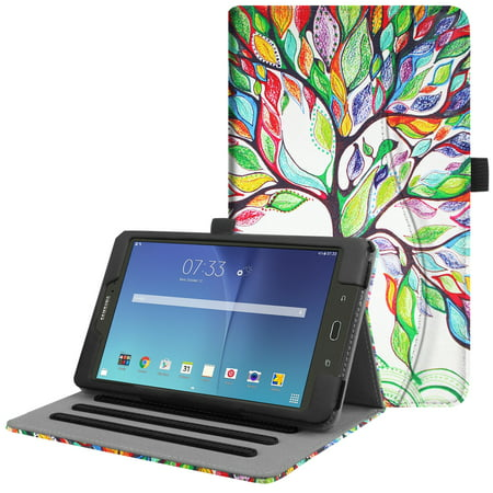 Samsung Galaxy Tab E 8.0 Case, Fintie Multi-Angle Viewing Stand Cover with Card Pocket Sleep/Wake SM-T377, Love