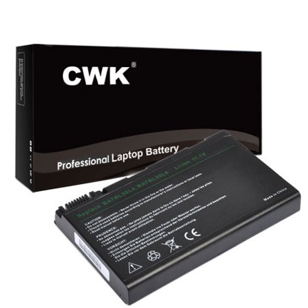 CWK Long Life Replacement Laptop Notebook Battery for Acer Aspire 9120 Series 5680 TravelMate 2450 2490 4200 4230 BATBL50L6 BATCL50L6 9120 5650 5680 eMachines E620 KAW60 9800 9810 Compatible Emachines Replacement Laptop