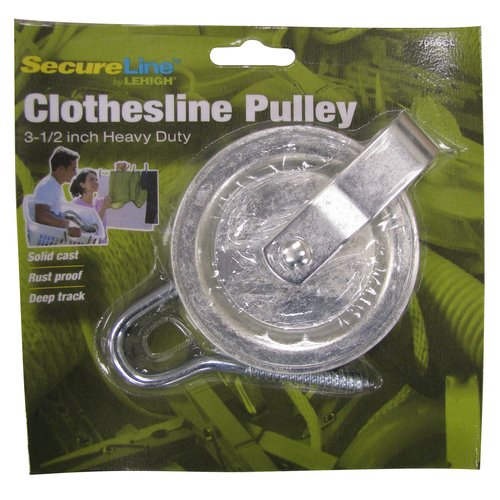 Secure Line Clothesline Pulley with Hook