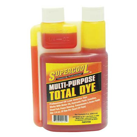 SUPERCOOL TD8 UV Fluid Leak Detection Dye, 8 Oz (Leak Detection Dye Tablets)