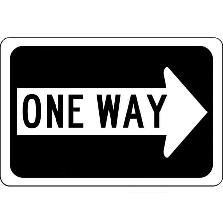 Traffic Signs - One Way Right Arrow Sign - Will Not Rust 10 x 7 Aluminum Metal Sign Street Weather Approved Sign 0.04 Thickness