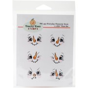 Peachy Keen Stamps Clear Face Assortment 6/pkg-everyday Snow Character