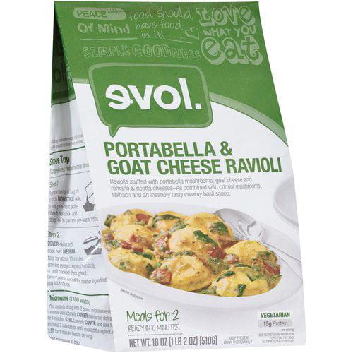 evol. Portabella & Goat Cheese Ravioli, 18 oz