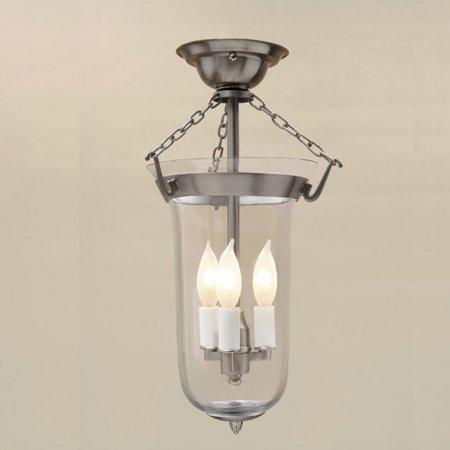 Jvi Designs 3 Light Bell Jar Elongated Semi Flush Mount