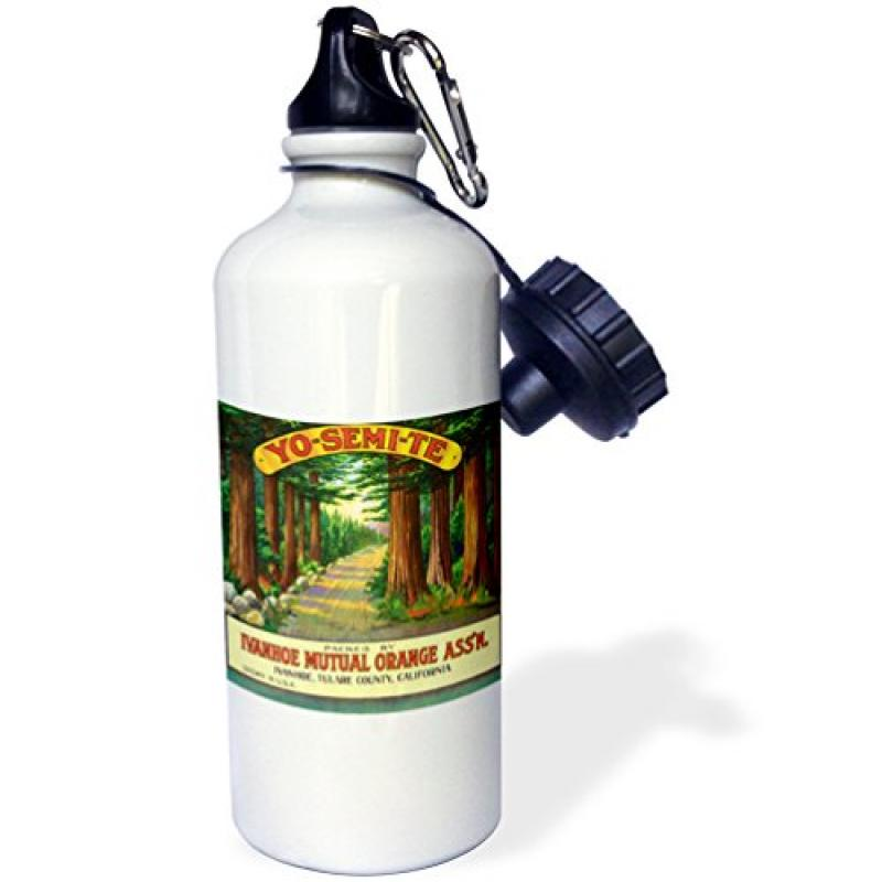 3dRose Yo Semi Te Ivanhoe Orange Association, Citrus Growers Yosemite , Sports Water Bottle, 21oz