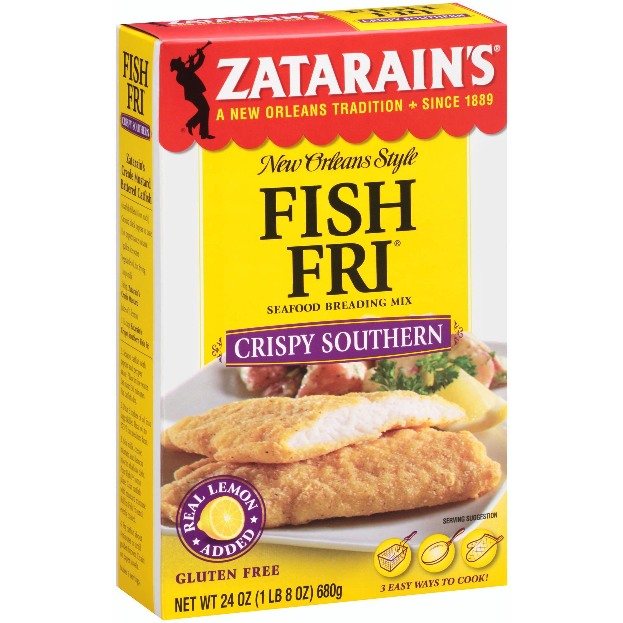 Zatarain's New Orleans Style Fish Fri Crispy Southern Seafood Breading Mix, 24 oz