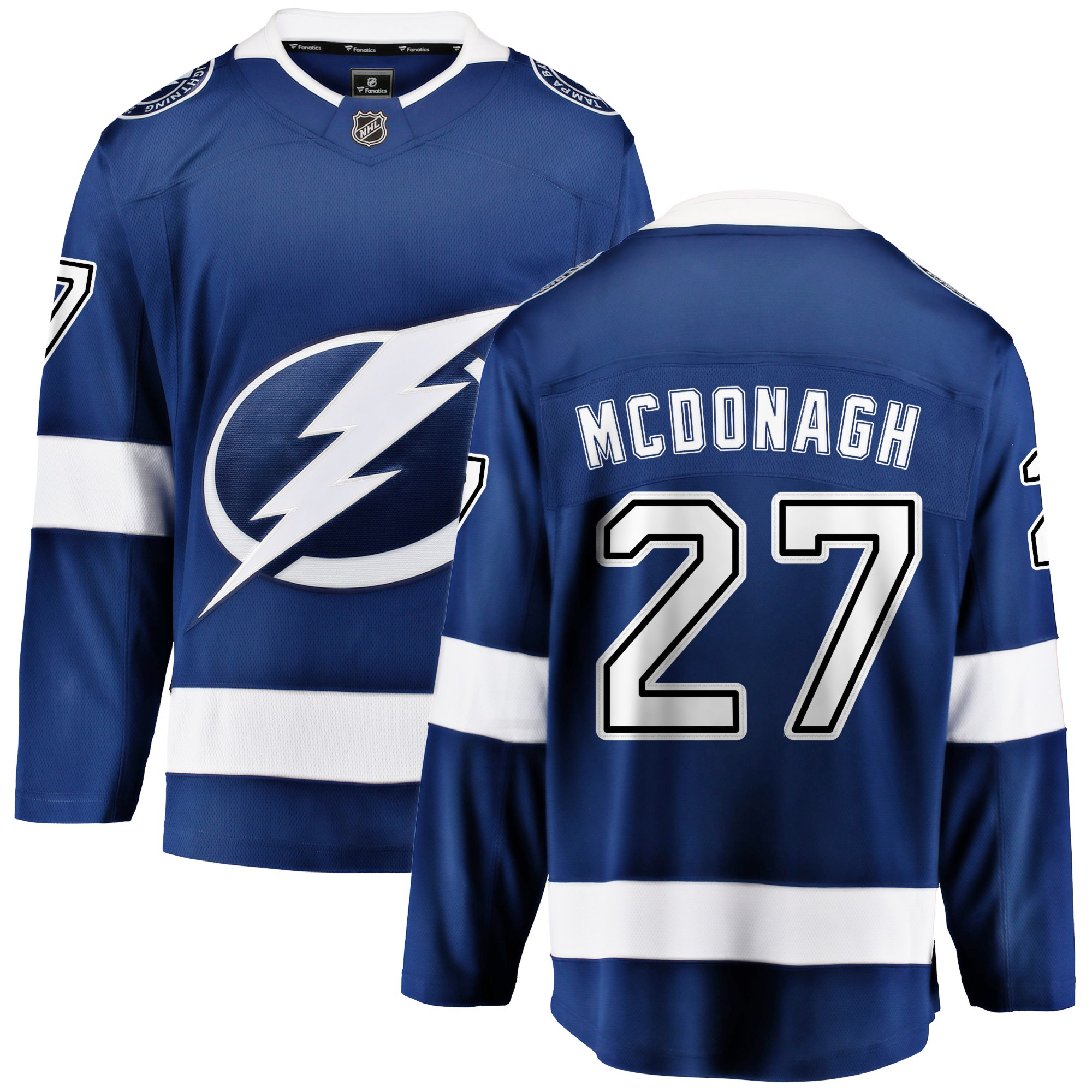 cheaper e4e94 7b1a9 Ryan McDonagh Tampa Bay Lightning NHL Fanatics Breakaway Home Jersey