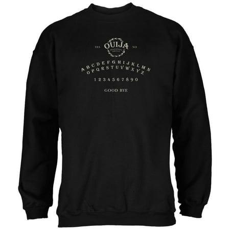 Halloween Ouija Board Costume Black Adult Sweatshirt - Boarded Up Windows For Halloween