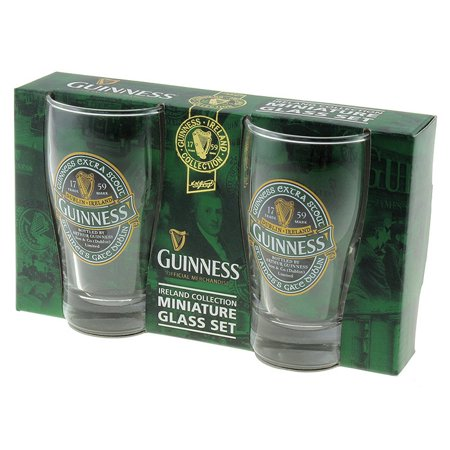 Guinness Beer Glasses - Guinness Ireland Mini Glass Pints 2 Pack