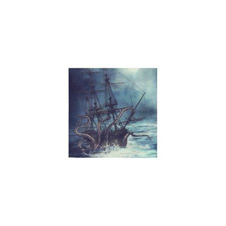 (ZKGK Octopus Kraken Sail Pirate Ship Boat Ocean Sea Wave Washcloth Dish Cloth Bath Towels For Bathroom Kitchen and Travel Use 13