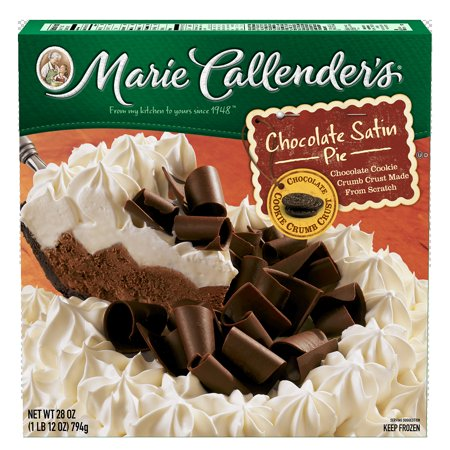 Marie Callenders Frozen Pie Dessert Chocolate Satin 28 Ounce