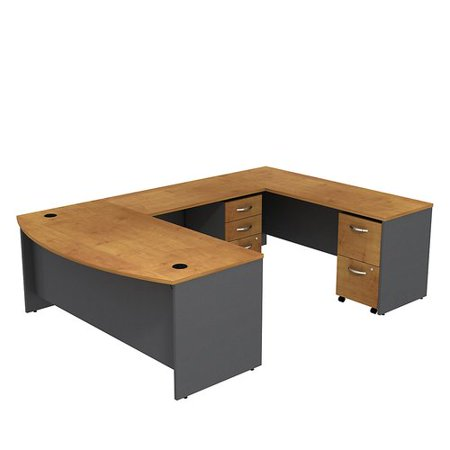 Bush Business Furniture Series C Bow Front U-Shape Executive Desk Executive Straight Front Desk