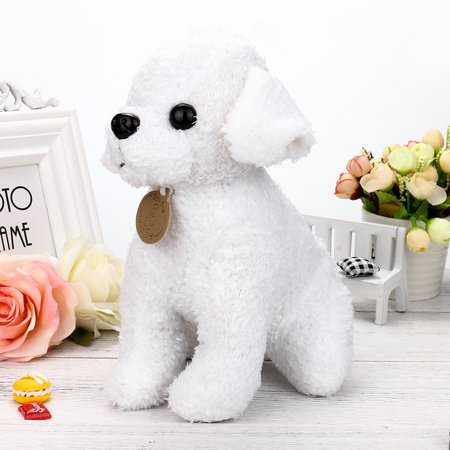 DZT1968 25CM Adorable Kawaii Poodle Puppy Soft Plush Toy Doll Cute Stuffed Toy Gifts