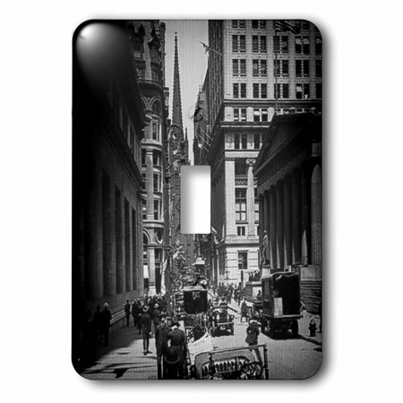 3dRose Sub Treasury Old Trinity Church Wall Street New York City Glass Slide - Single Toggle Switch (lsp_77350_1)